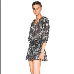 Ulla Johnson Batu Smoked Floral mini dress size 6